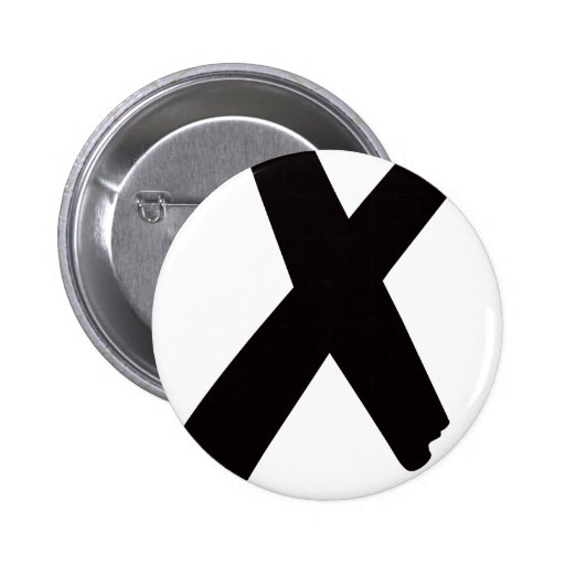 "The English American Letter ""X"" Pin"