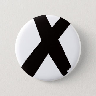"""The English American Letter """"X"""" Pinback Button"""