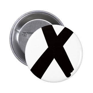 "The English American Letter ""X"" Pinback Button"