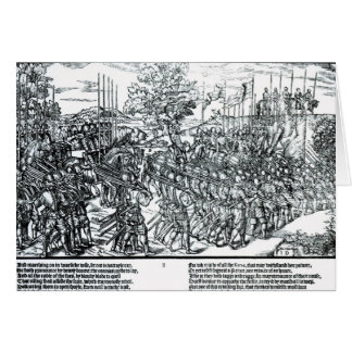 The English Army Marching with Sir Henry Sidney Card