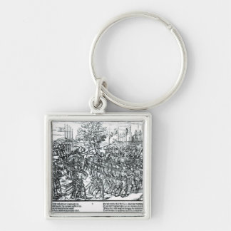The English Army Marching with Sir Henry Sidney Keychain