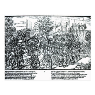 The English Army Marching with Sir Henry Sidney Postcard