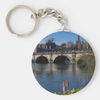 The English Bridge over the Severn, Shrewsbury, U. Keychains