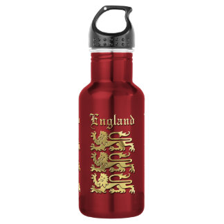 The English Coat of Arms Stainless Steel Water Bottle