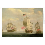 The English Fleet Under Sail Greeting Card