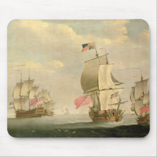 The English Fleet Under Sail Mouse Pad