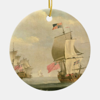 The English Fleet Under Sail Christmas Ornament