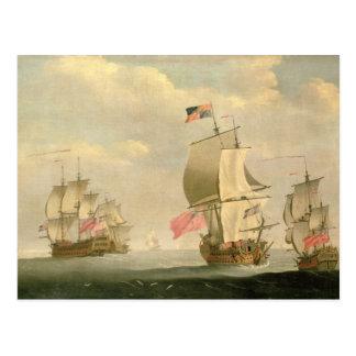 The English Fleet Under Sail Postcard