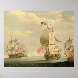 The English Fleet Under Sail Poster