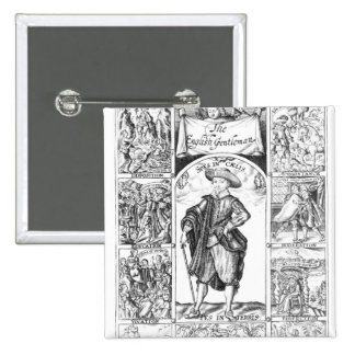 The English Gentleman 2 Inch Square Button