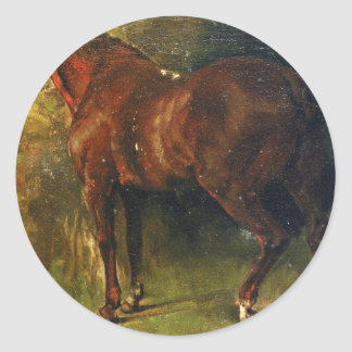 The English Horse of M. Duval by Gustave Courbet Classic Round Sticker