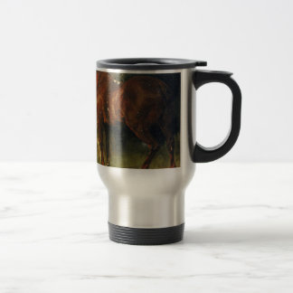 The English Horse of M. Duval by Gustave Courbet Travel Mug