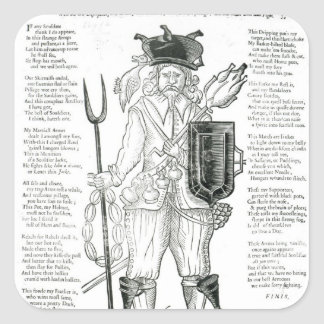 The English Irish Soldier, with New Discipline Square Sticker