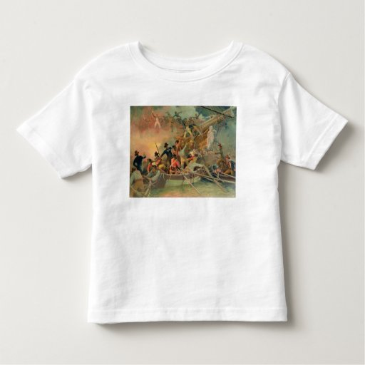 The English navy conquering a French ship Tee Shirts