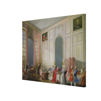 The English Tea  and a Society Concert Canvas Print