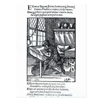 The Engraver, published by Hartman Schopper Postcard