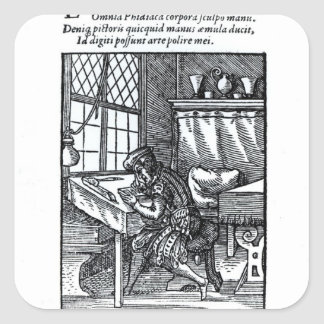 The Engraver, published by Hartman Schopper Square Sticker