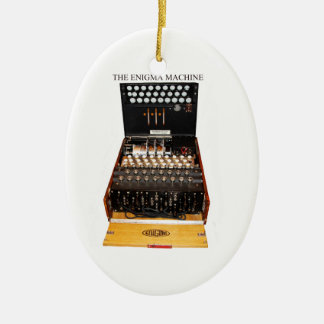 The enigma machine, vintage military messaging ceramic ornament