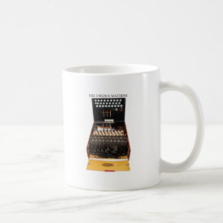 The enigma machine, vintage military messaging coffee mug