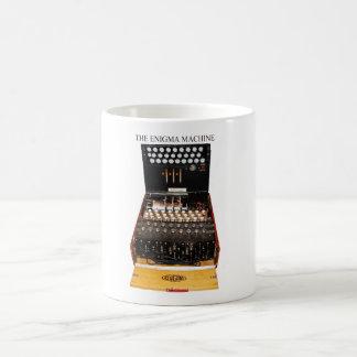 The enigma machine, vintage military messaging coffee mug