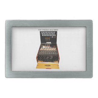 The enigma machine, vintage military messaging rectangular belt buckles