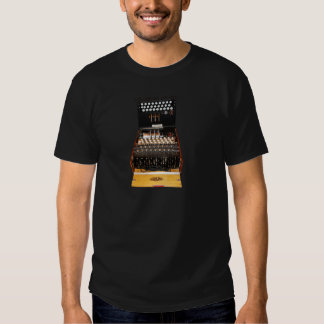 The enigma machine, vintage military messaging shirts