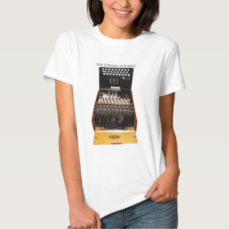 The enigma machine, vintage military messaging tee shirt