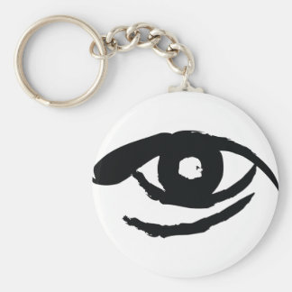 The Enlightened Eye Basic Round Button Keychain