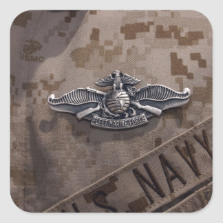 The Enlisted Fleet Marine Force Warfare Square Sticker
