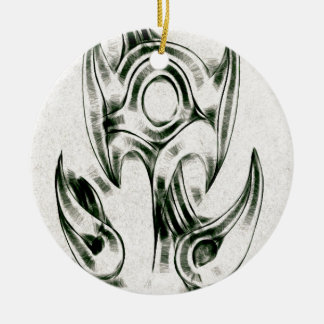 The Entangled Vines Double-Sided Ceramic Round Christmas Ornament