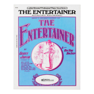The Entertainer by Scott Joplin Panel Wall Art