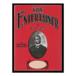 The Entertainer Scott Joplin Vintage Songbook Cove Poster