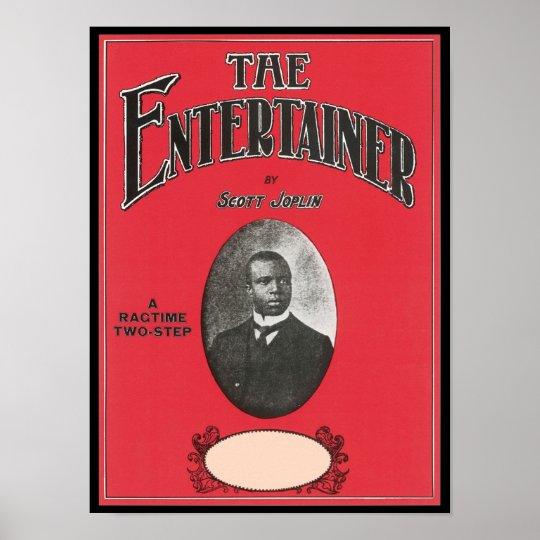 The Entertainer Scott Joplin Vintage Songbook Cove Poster