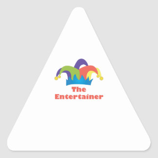 The Entertainer Triangle Sticker
