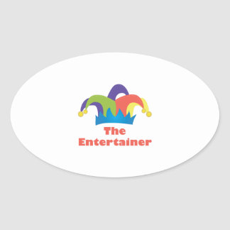 The Entertainer Oval Sticker