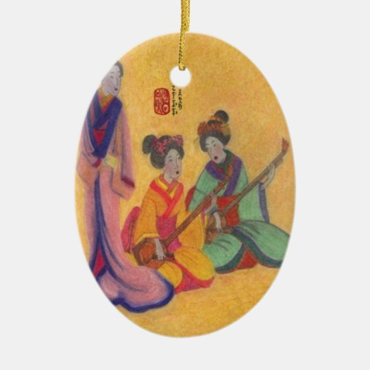 The Entertainers Ceramic Ornament