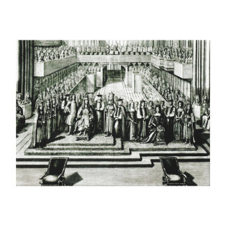 The Enthroning of King James II and Queen Mary Canvas Print