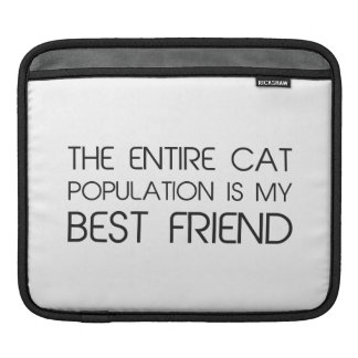 The Entire Cat Population Is My Best Friend iPad Sleeves