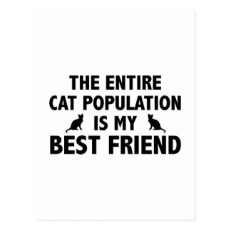 The Entire Cat Population Is My Best Friend Postcard