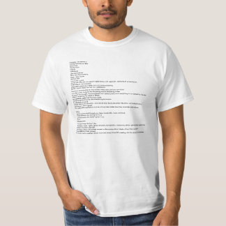 The Entire Manifesto. Shirts