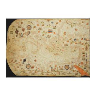 The entire Mediterranean Basin Canvas Print