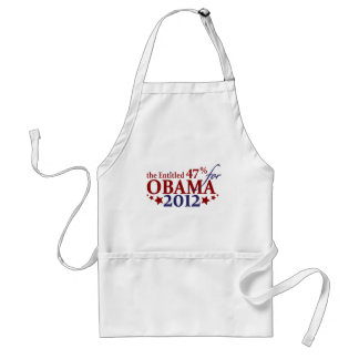 The Entitled 47% for Obama 2012 Adult Apron