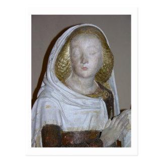The Entombment, detail of a female saint, 1490 (pa Postcard