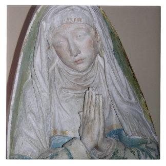 The Entombment, detail of a female saint praying, Ceramic Tile