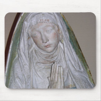 The Entombment, detail of a female saint praying, Mouse Pad