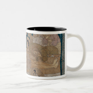 The Entombment, Moscow School, 1678 Two-Tone Coffee Mug