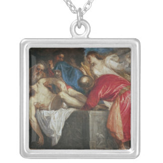 The Entombment of Christ, 1559 Silver Plated Necklace