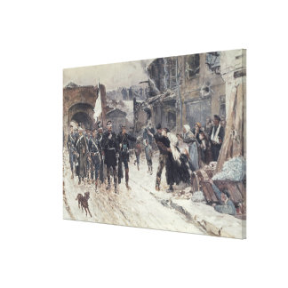 The Entrance into Belfort of the German Commander Canvas Print