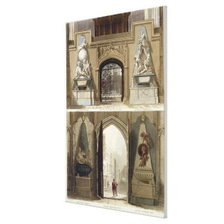 The Entrance into the Choir and the West Entrance, Canvas Print