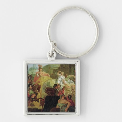 The Entrance of Alexander the Great Keychain